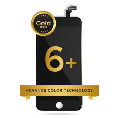 iPhone 6 Plus LCD Digitizer Assembly Gold Series Premium Quality (Black)