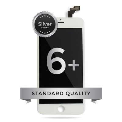 IPhone 6 Plus LCD Digitizer Assembly Silver Series Standard Quality (White)