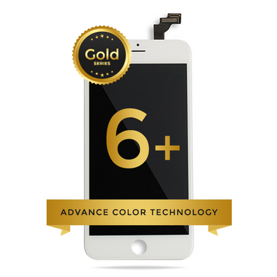 iPhone 6 Plus LCD Digitizer Assembly Gold Series Premium Quality Retail Pack (White)