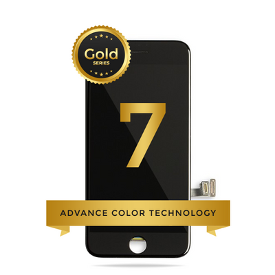 iPhone 7 LCD Digitizer Assembly Gold Series Premium Quality Retail Pack (Black)