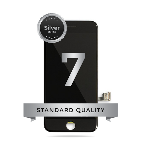 IPhone 7 LCD Digitizer Assembly Silver Series Standard Quality (Black)
