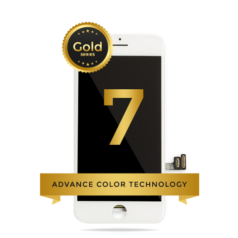 iPhone 7 LCD Digitizer Assembly Gold Series Premium Quality Retail Pack (White)