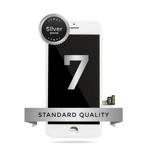 IPhone 7 LCD Digitizer Assembly Silver Series Standard Quality (White)
