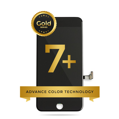iPhone 7 Plus LCD Digitizer Assembly Gold Series Premium Quality Retail Pack (Black)