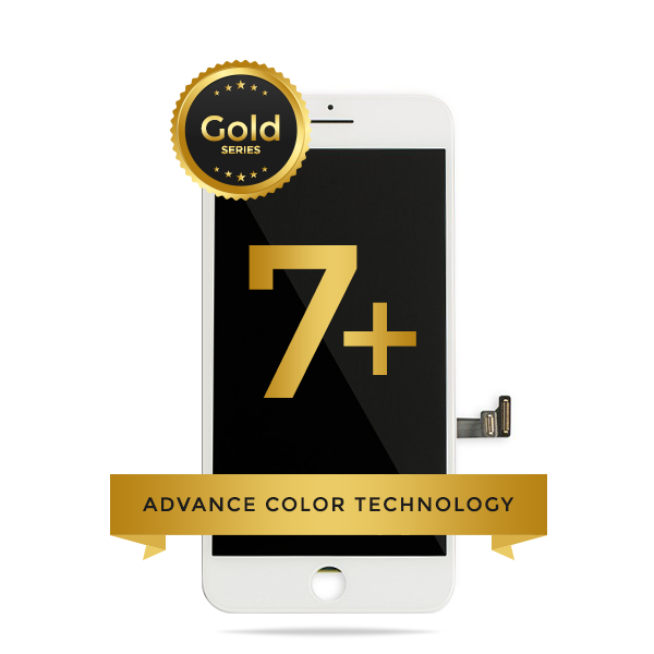 iPhone 7 Plus LCD Digitizer Assembly Gold Series Premium Quality Retail Pack (White)
