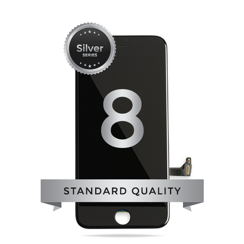 IPhone 8 LCD Digitizer Assembly Silver Series Standard Quality (Black)