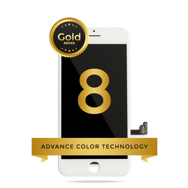 iPhone 8/ SE 2020 LCD Digitizer Assembly Gold Series Premium Quality Retail Pack (White)