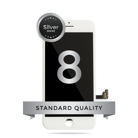 IPhone 8 LCD Digitizer Assembly Silver Series Standard Quality (White)