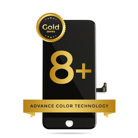 iPhone 8 Plus LCD Digitizer Assembly Gold Series Premium Quality Retail Pack (Black)