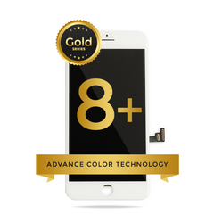 iPhone 8 Plus LCD Digitizer Assembly Gold Series Premium Quality Retail Pack (White)