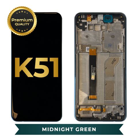 LCD Assembly With Frame For LG K51 (Midnight Green)