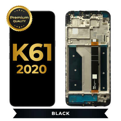 LCD Assembly With Frame For LG K61 (Black)