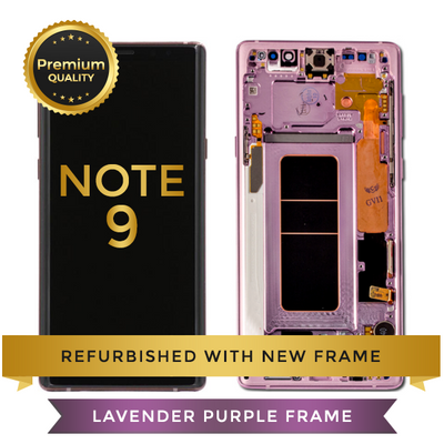 Replacement LCD Digitizer Assembly With Frame, Purple For Samsung Galaxy Note 9