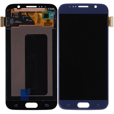 LCD Screen & Digitizer Assembly, Black/Blue, for Samsung Galaxy S6, No Frame (No Logo)