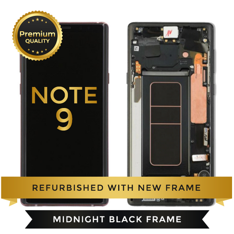 Replacement LCD Digitizer Assembly With Frame, Black For Samsung Galaxy Note 9