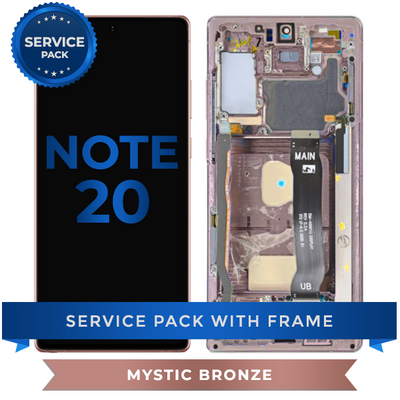 Service Pack - OLED Screen Assembly for Samsung Note 20 (Mystic Bronze)