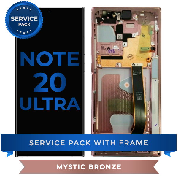 Service Pack - OLED Screen Assembly for Samsung Note 20 Ultra (Mystic Bronze)