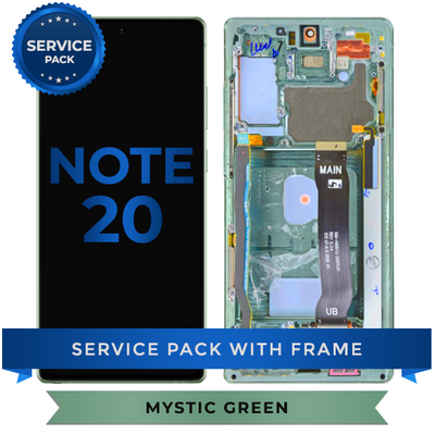 Service Pack - OLED Screen Assembly for Samsung Note 20 (Mystic Green)