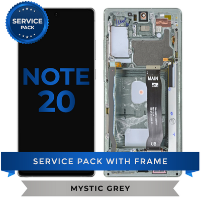 Service Pack - OLED Screen Assembly for Samsung Note 20 (Mystic Gray)