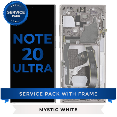 Service Pack - OLED Screen Assembly for Samsung Note 20 Ultra (Mystic White)
