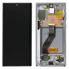 Genuine Samsung Galaxy Note 10 LCD Digitizer display Assembly with front housing, Silver