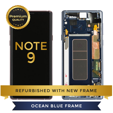 Replacement LCD Digitizer Assembly With Frame, Ocean Blue For Samsung Galaxy Note 9