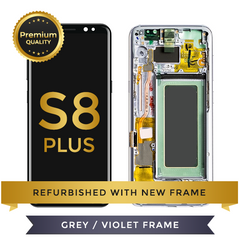 Refurbished Samsung Galaxy S8 Plus LCD Digitizer display assembly with front housing, Grey