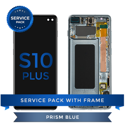 Service Pack - OLED Screen Assembly for Samsung Galaxy S10 Plus, Blue
