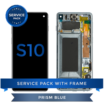 Service Pack - OLED Screen Assembly for Samsung Galaxy S10, Blue