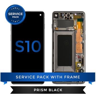 Service Pack - OLED Screen Assembly for Samsung Galaxy S10, Black
