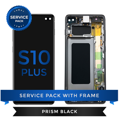 Service Pack - OLED Screen Assembly for Samsung Galaxy S10 Plus, Black