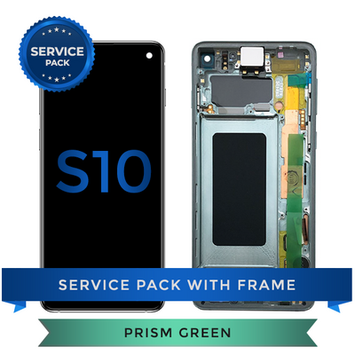 Service Pack - OLED Screen Assembly for Samsung Galaxy S10, Green