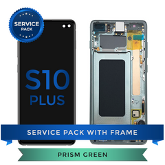 Service Pack - OLED Screen Assembly for Samsung Galaxy S10 Plus, Green