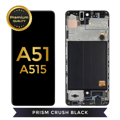 OLED Assembly With Frame For Samsung Galaxy A51 (A515 / 2019) (Prism Crush Black)