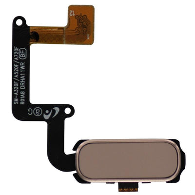 Replacement Galaxy A5 2017 Home Button with Flex Cable (Pink)