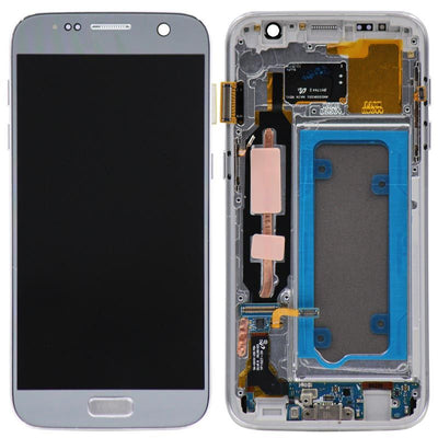 Replacement LCD Digitizer Assembly with Frame, Silver for Samsung Galaxy S7 (US Models Only)