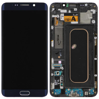 Replacement Samsung Galaxy S6 Edge + Plus LCD Screen & Digitizer Assembly, Black with Home Button Keypad