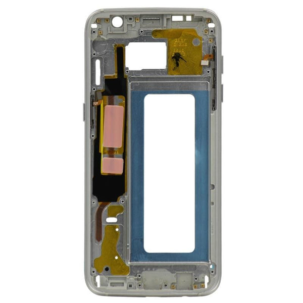 Replacement Samsung Galaxy S7 Edge Mid Frame, White