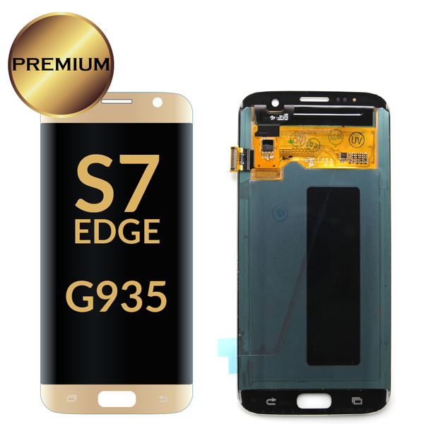 Samsung Galaxy S7 Edge LCD Digitizer Assembly (Gold) Without Frame