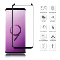 Samsung Galaxy S9 3D Case Friendly Edge To Edge Tempered Glass (Black)