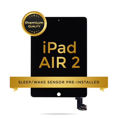 IPad Air 2 LCD Digitizer Assembly Premium Quality (Sleep / Wake Sensor Flex Pre-Installed) (Black)