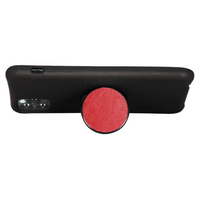 COOLGRIPS GENUINE RED LEATHER PHONE GRIP AND STAND