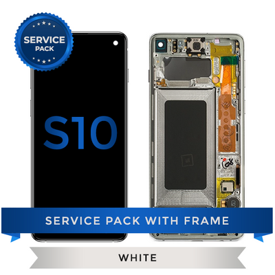 Service Pack - OLED Screen Assembly for Samsung Galaxy S10, Ceremic White