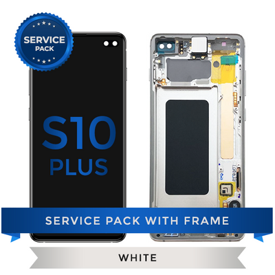 Service Pack - OLED Screen Assembly for Samsung Galaxy S10 Plus, Ceremic White