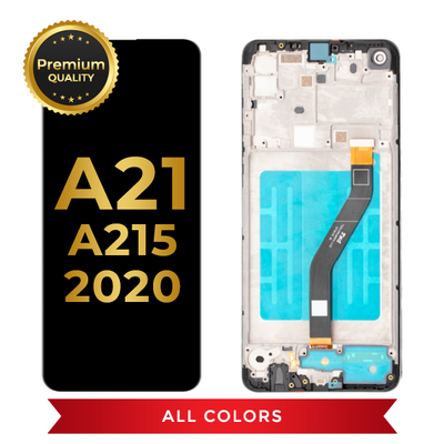 OLED Assembly With Frame For Samsung Galaxy A21 (A215 / 2020) (All Colors)