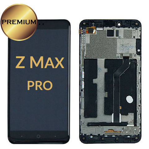 ZTE Zmax Pro Z981 LCD Digitizer Assembly With Frame (Black)