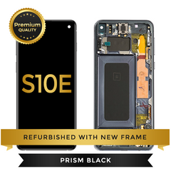 Refurbished Samsung Galaxy S10e LCD Digitizer display assembly with front housing, Black