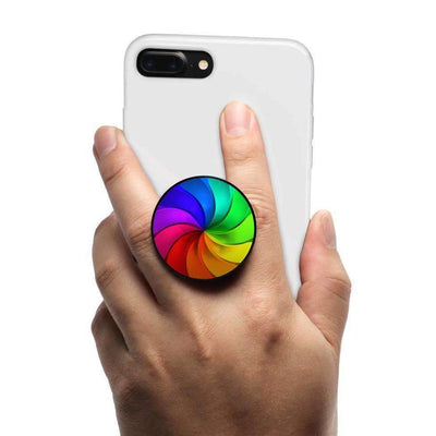COOLGRIPS MAGNET COLLAPSIBLE PHONE GRIP AND STAND RAINBOW