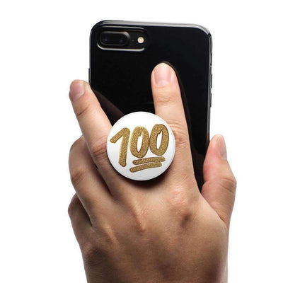 COOLGRIPS MAGNETIC PHONE GRIP MOUNT AND STAND EMOJI™ 100 GOLD