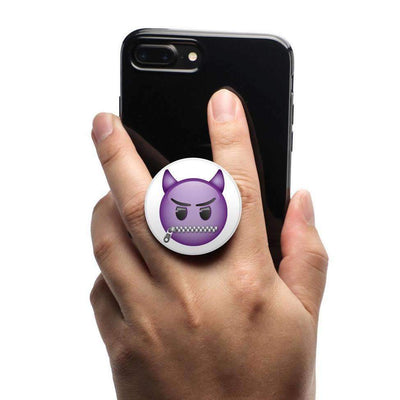 COOLGRIPS MAGNETIC PHONE GRIP MOUNT AND STAND EMOJI PURPLE DEVIL